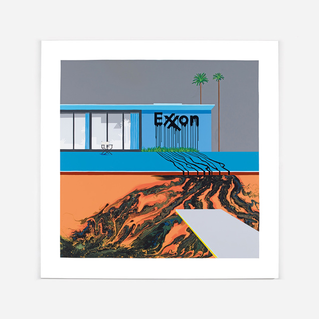 , 'Oil Painting, Exxon Grey/Orange,' 2016, Lazinc