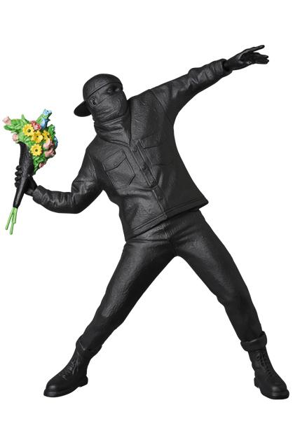 Banksy, 'FLOWER BOMBER GESSO BLACK', 2019, Dope! Gallery