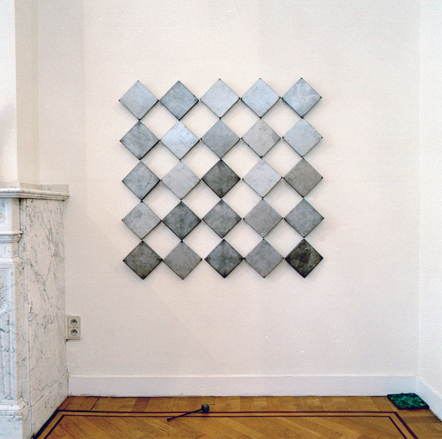 , 'AZART -  26 metal metal covers - paint - glass,' 2001, Annie Gentils