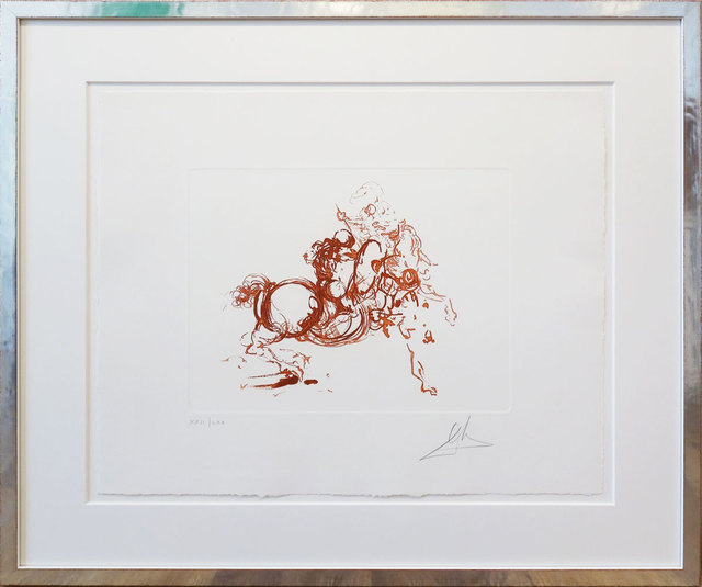Salvador Dalí, 'Ritterkampf/Jinete (rot)', 1971, Print, Colored etching, Galerie Kellermann