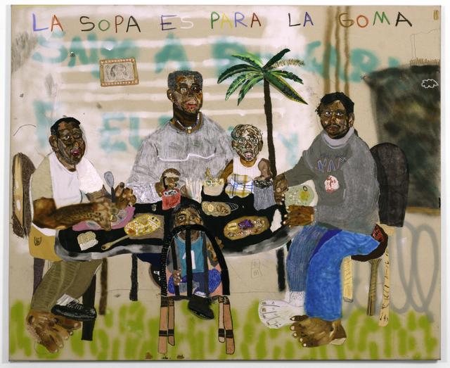 John Rivas, 'La Sopa es Para La Goma', 2020, Painting, Mixed media on canvas, LatchKey Gallery