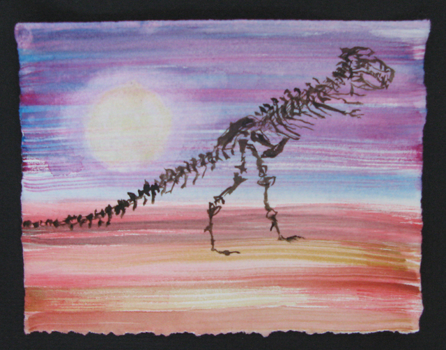 , 'Wish You Were Here: T-Rex Sunset,' 2017, CENTRAL BOOKING