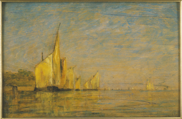 William Gedney Bunce, 'A Group of Boats, Venice', 1882, Phillips Collection
