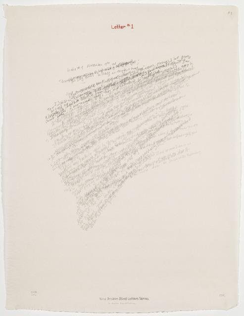 , 'Letter #1,' 2004, Travesia Cuatro