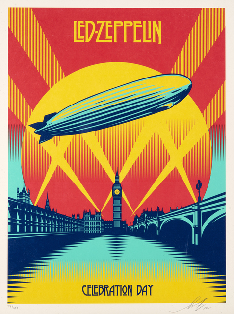Shepard Fairey, 'Celebration Day', 2012, Print, Screen print in colours on paper, Tate Ward Auctions
