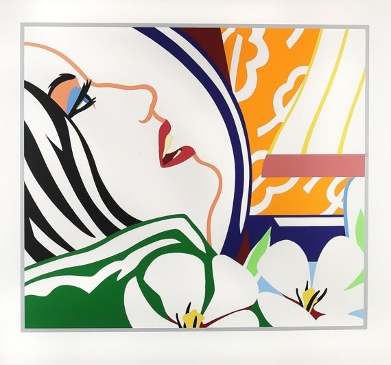 , 'Bedroom Face with Orange Wallpaper,' 1987, Galerie Philippe David
