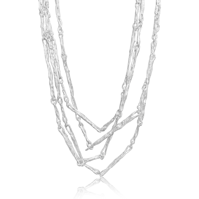 , 'White Sterling Silver Sticks Multiwrap Necklace,' 2016, Szor Collections