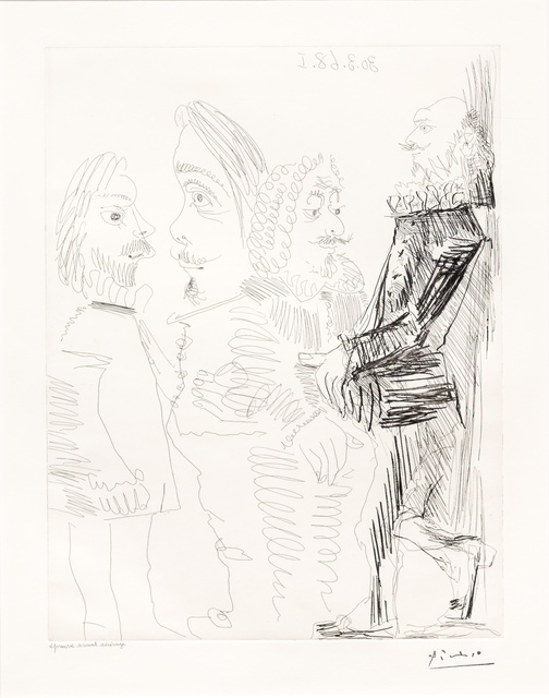Pablo Picasso, 'Quatre Hommes en Costume..., from the 347 Series', 1968, Leslie Sacks Gallery