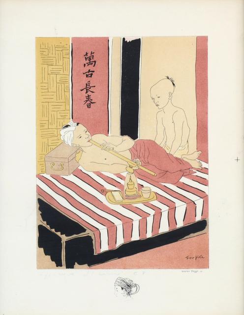 Léonard Tsugouharu Foujita, 'The Opium Smoker by Gaston Prost (after Foujita)', ca. 1950, Kloser Contemporary Art