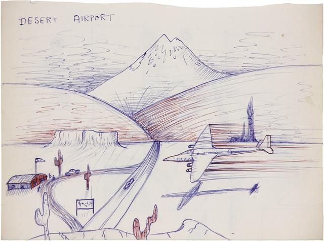 , 'Desert Airport,' 1973, Linn Lühn