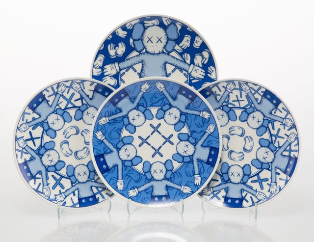 KAWS, 'Holiday: Taipei, set of four', 2019, Design/Decorative Art, Ceramic plate set, Heritage Auctions
