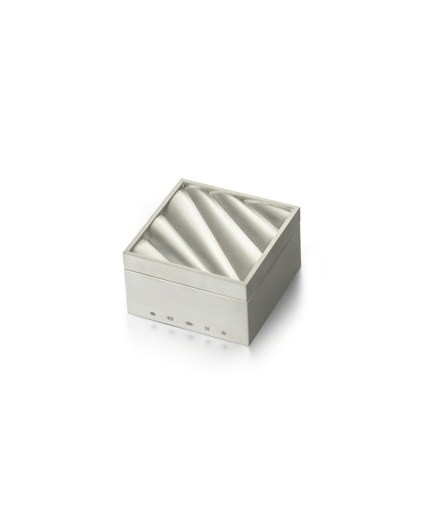 Angela Cork, Square Ripple Box 2016 Sterling Silver H73 x W73 xD44mm £2,700