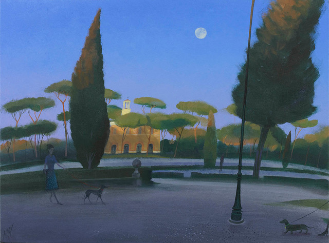 , 'The Rising Moon, Borghese Gardens,' 2017, Portland Gallery