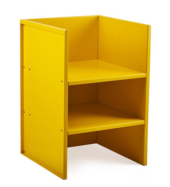 Donald Judd, 'Armchair #47 (yellow)', 1984, Design/Decorative Art, Painted aluminum (with original box), Rago/Wright
