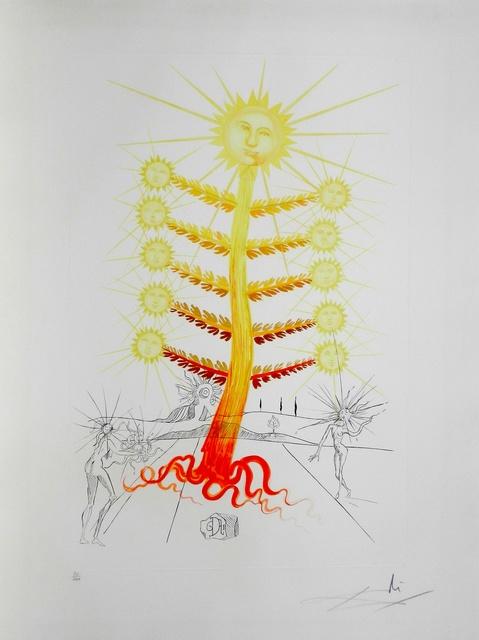 Salvador Dalí, 'Flora Dalinae Sun', 1968, Print, Etching, Fine Art Acquisitions Dali