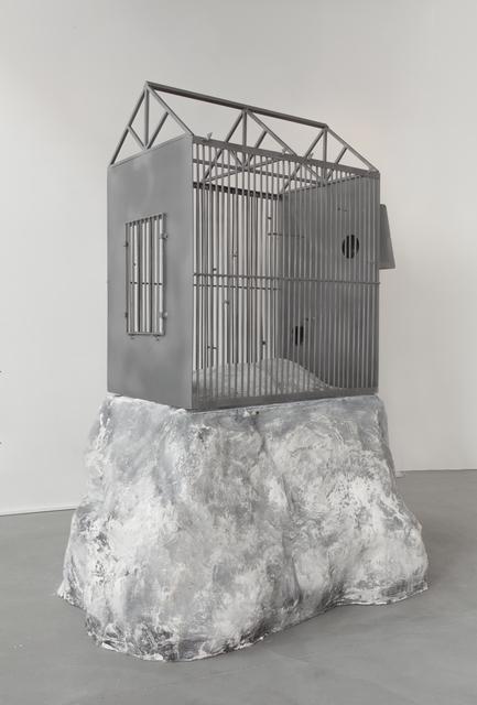 Joris Van de Moortel, 'Gardenhouse / Birdhouse', 2018, Sculpture, Steel, white paint, plaster, Galerie Nathalie Obadia