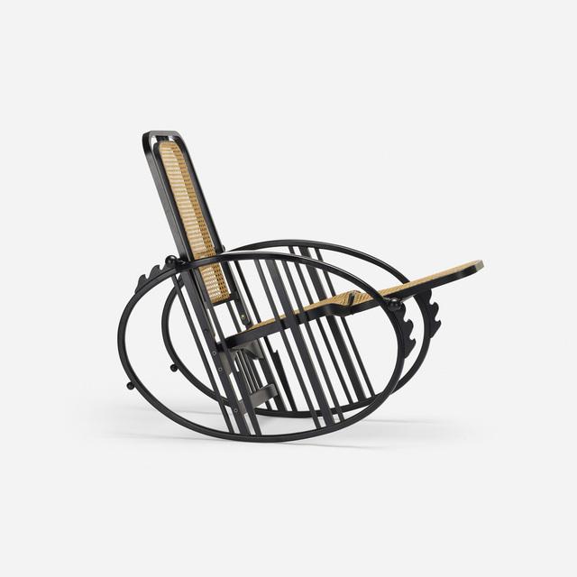 Antonio Volpe, 'rocker', c. 1910, Design/Decorative Art, Ebonized beech, cane, Rago/Wright