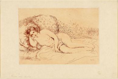 Femme couchée (tournée à gauche)