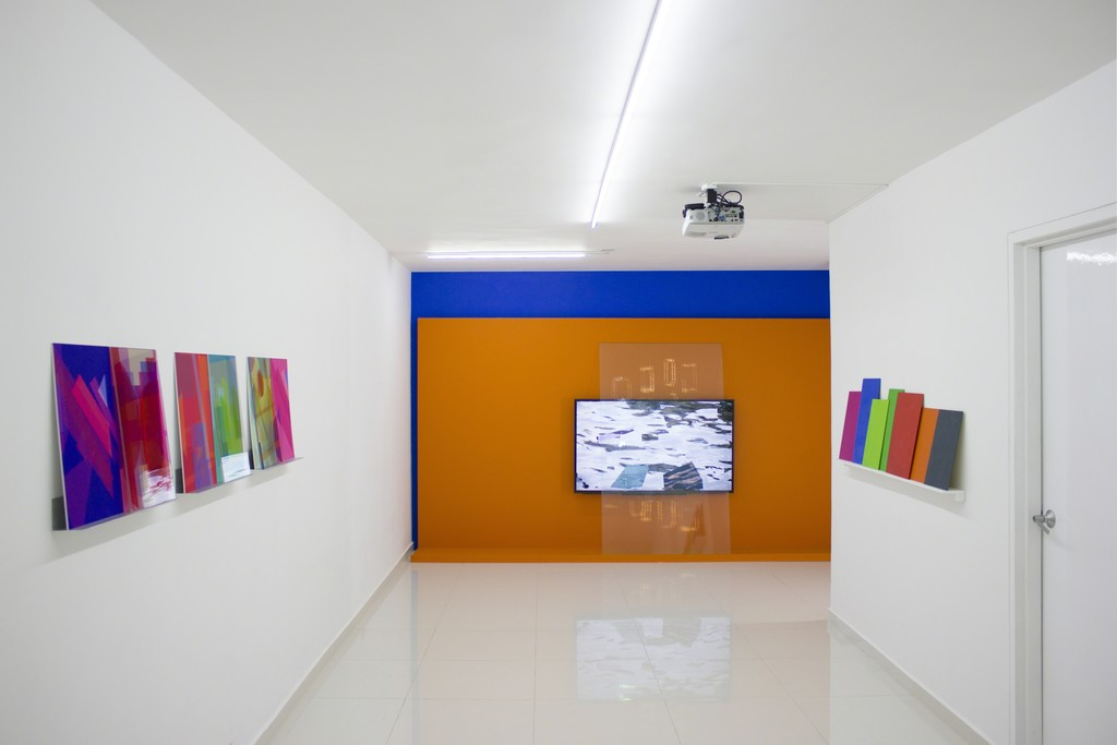 Monika Bravo — Arche-Types (2015) / The Sound of the Word Is Beyond Sense (orange) (2015) / Color_Code #1_Venice (2015)