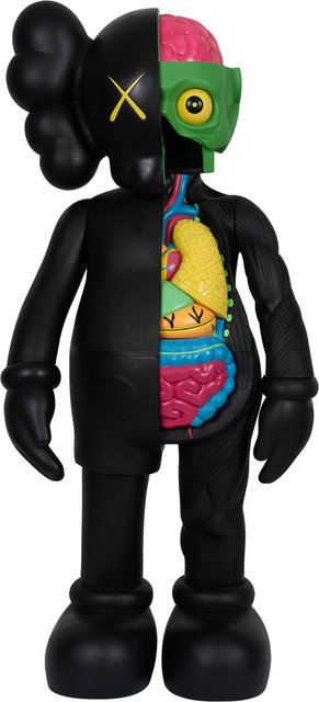 KAWS, '4FT Dissected Companion (Black)', Other, Fiber-reinforced plastic, Heritage Auctions