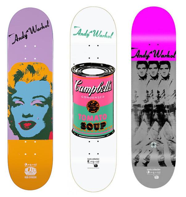 Andy Warhol, 'Skateboard set of 3', ca. 2013, Print, Screenprint on wood, EHC Fine Art