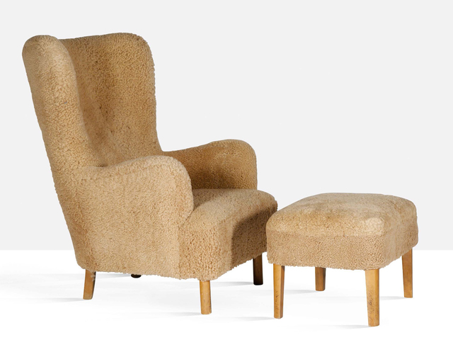 Børge Christoffersen, 'Armchair and ottoman', circa 1940, Aguttes