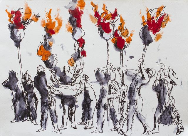 , 'Il Barbarossa- La commemorazione del rogo dei Monfortini,' 2013, DIE GALERIE