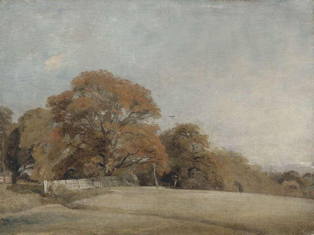 John Constable, 'An Autumnal Landscape at East Bergholt', between 1805 and 1808, Yale Center for British Art