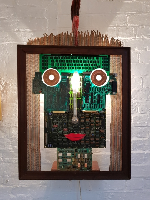 , 'Digital Green Man,' 1994, Barewall Art Gallery