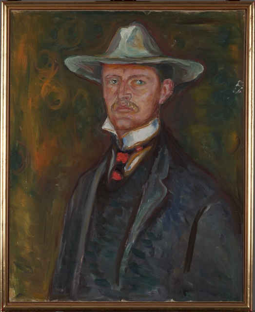 , 'Selvportrett med bredbremmet hat (Self-Portrait in Broad Brimmed Hat),' 1905-1906, Munch Museum