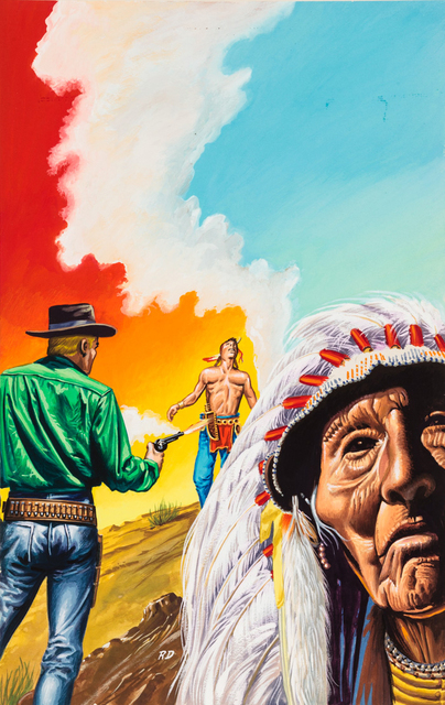 'Untitled (Cowboy with Native American figure)', c. 1960-75, Ricco/Maresca Gallery