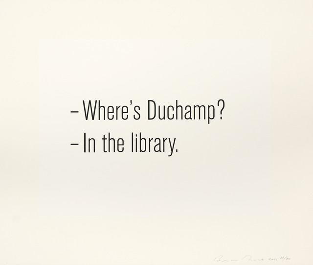 Bethan Huws, 'Where's Duchamp', 2011, Print, Two-colour screenprint, Shapero Modern