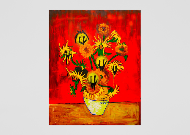 Vernon O'Meally, 'Visit-n-Gogh (Red)', 2018, ABXY