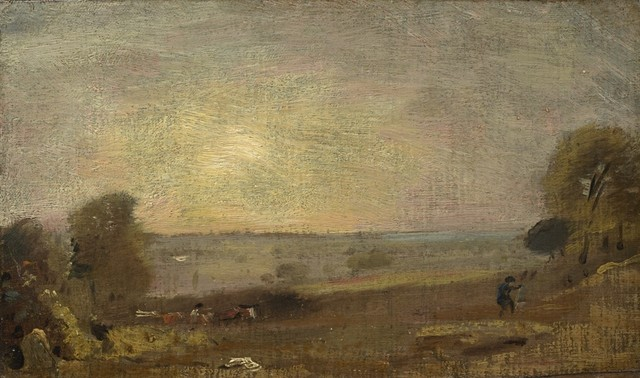 , 'Dedham Vale from the Road to East Bergholt, Sunset,' 1810, Clark Art Institute