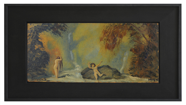 , 'Landscape with two Waterfall and two Figures,' 1919, Kunsthalle Marcel Duchamp | The Forestay Museum of Art