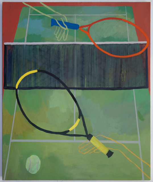 , 'Tennis Players in White Hats,' 2016, Stuart & Co. Gallery