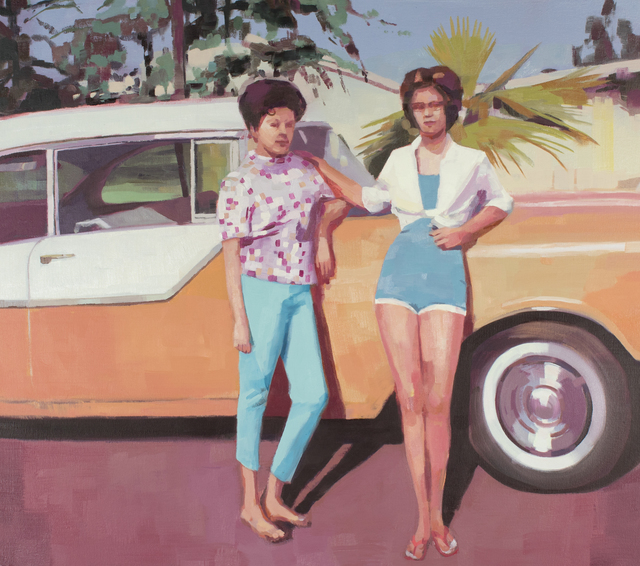 , 'June 12, 1962 (Two Friends with Car),' 2018, Kopeikin Gallery