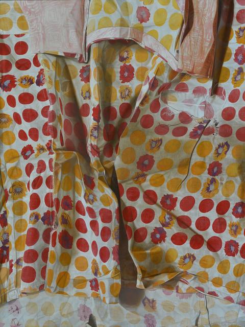 Marina Cruz, 'Vermillion and Cadmium Yellow Polka Dots with Flowers', 2018, A3 Arndt Art Agency