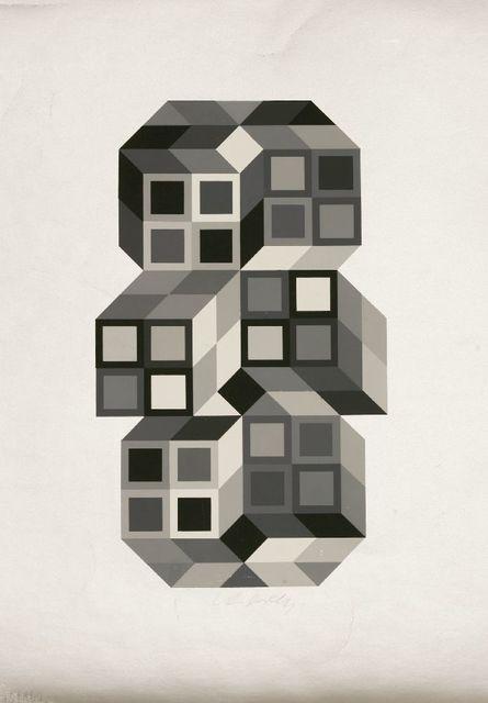 Victor Vasarely, 'COMPOSITION SILVER', 1980, Sworders