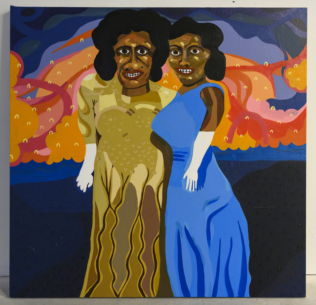 , 'Ladies Going to See Joyce Bryant,' 2019, Mindy Solomon Gallery