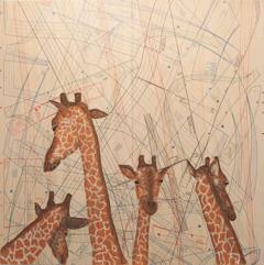 , 'Relief Giraffes,' 2014, Moscow Museum of Modern Art