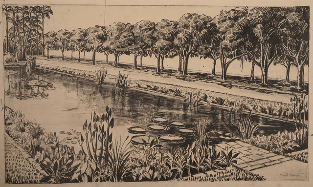 , 'Garden of Casa Forte (City Hall), Recife,' 1935, The Jewish Museum