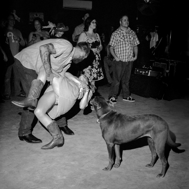 Chad Schaefer, 'Dancers and a Dog at the White Horse Saloon, Austin, TX', 2010, Soho Photo Gallery
