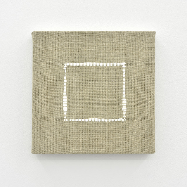 , 'Composition for Woven Square Outline (White),' 2017, PRAZ-DELAVALLADE