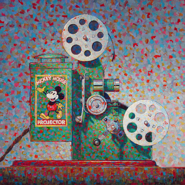 , 'Mickey Mouse Projector,' 2018, George Billis Gallery