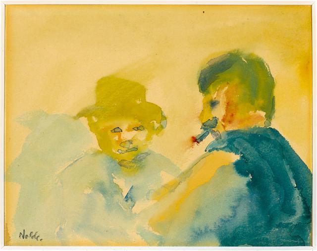 , 'Zwei Männer im Gespräch,' 1908, Galerie Herold