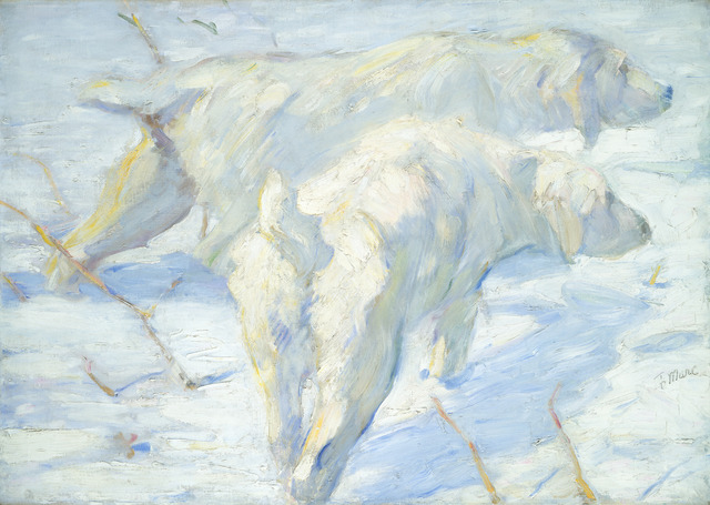 Franz Marc, 'Siberian Dogs in the Snow', 1909/1910, Painting, Oil on canvas, National Gallery of Art, Washington, D.C.