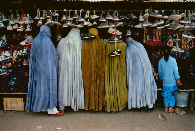 , 'AFGHAN WOMEN AT SHOE STORE, KABUL, AFGHANISTAN,1992,' 1992, Huxley-Parlour