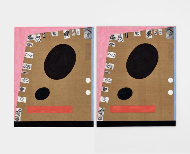 James hd Brown, 'Twin Painting #4 (7 Sided Room)', 2018, Galería Hilario Galguera