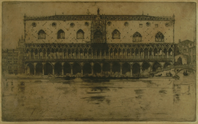 Sir David Young Cameron, 'The Doge's Palace, Venice', 1902, Private Collection, NY